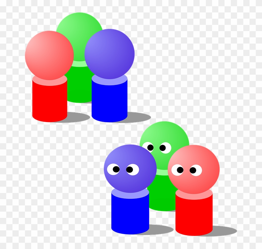 Free Vector People Group Clip Art - Groups Of 3 People #4873