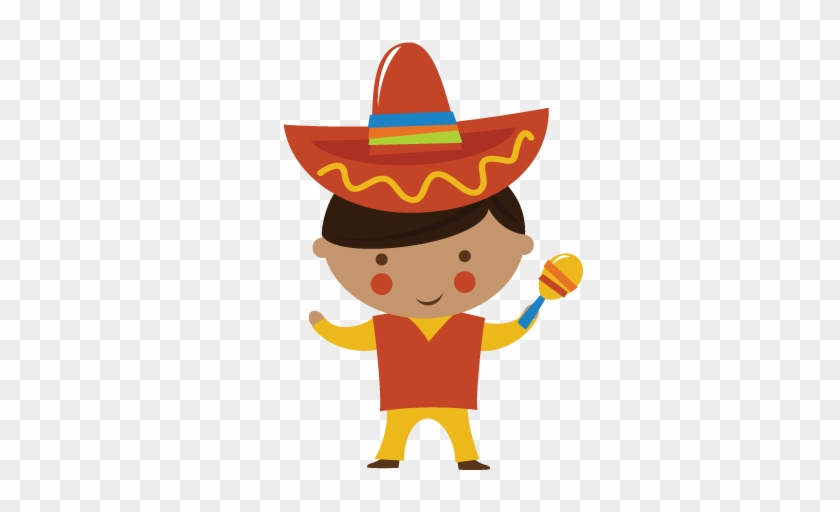 Small World Boy-mexico Svg Cut Files For Scrapbooking - Mexican Boy Clipart #4896