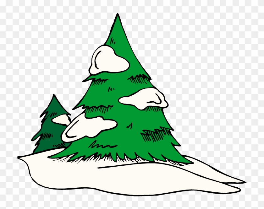 Green Free Pine Tree Clipart School - Snow On Tree Clipart #4880