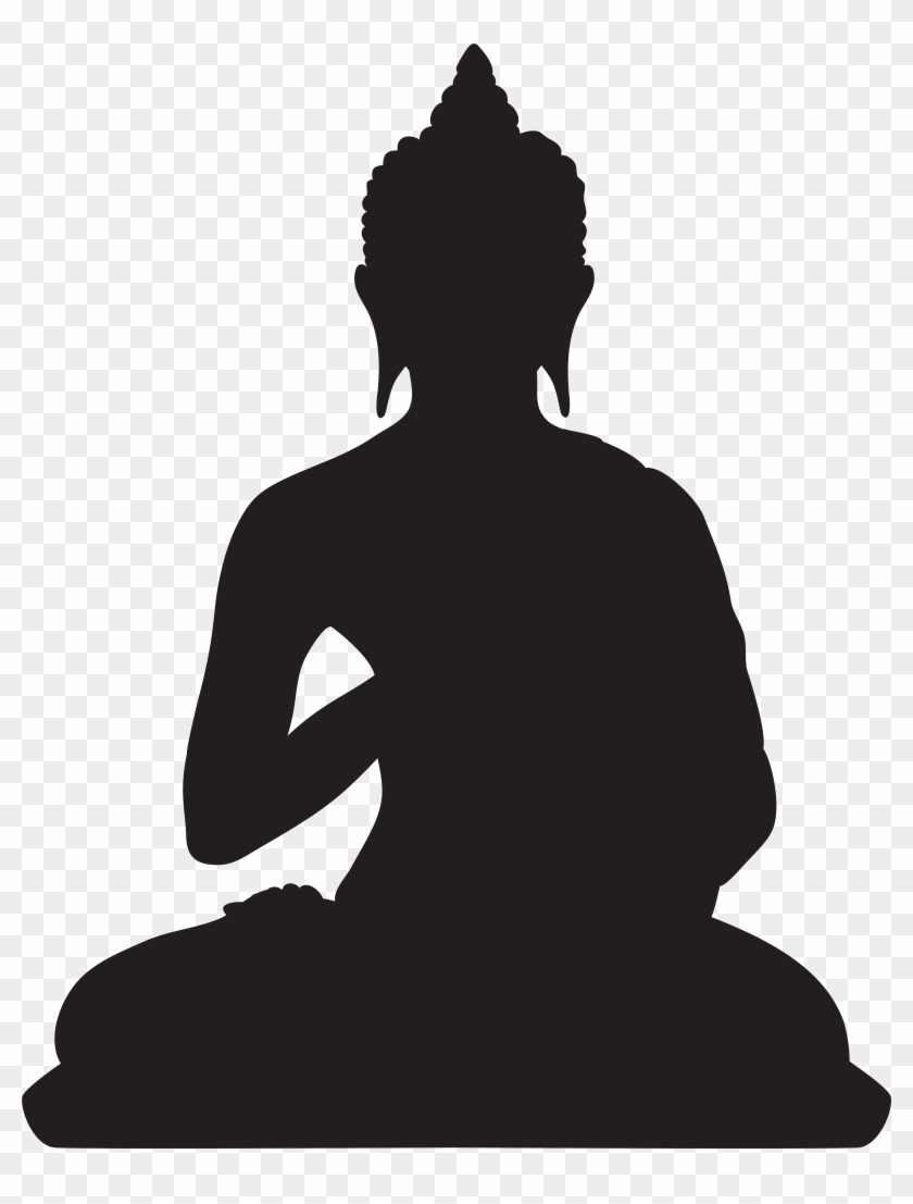 Buddha Silhouette Png Clip Art - Buddha Silhouette Png Clip Art #4961