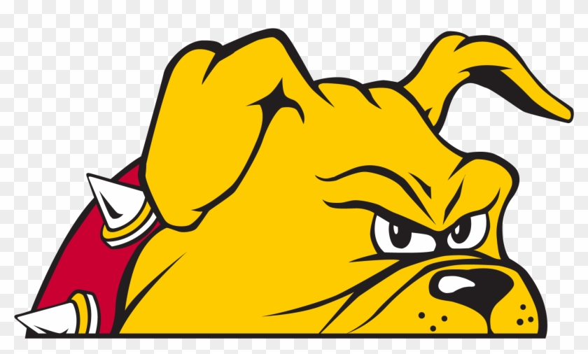 Peeking Bulldog - Ferris State University Bulldog #4947