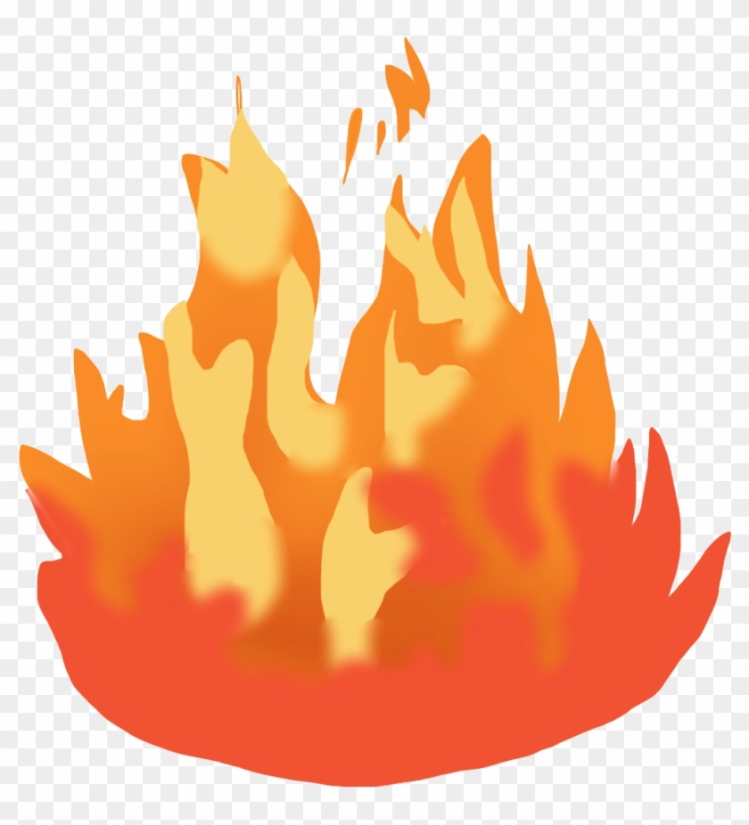 Flame Clip Art - Fire Moving Clip Art #4955