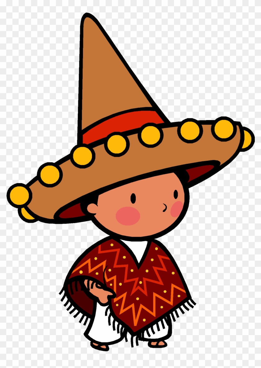 May Clip Art - Mexican Boy Clip Art #4943
