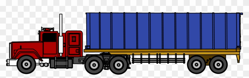 Industrial Truck Big Truck Clipart Png Image Side View - Truck #4981