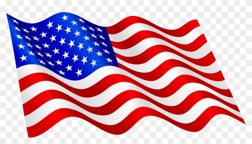 This High Quality Free Png Image Without Any Background - Waving American Flag Clip Art #5008