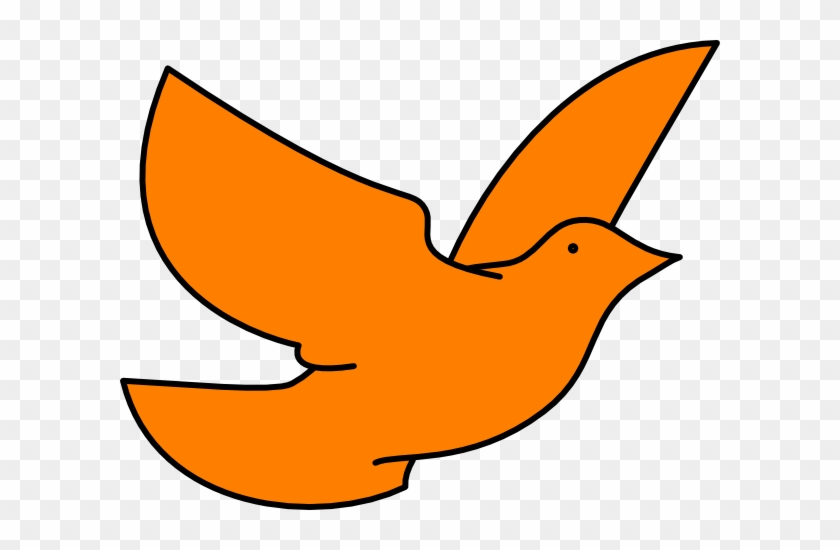 Orange Dove Clip Art - Orange Dove #4993