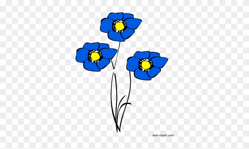 Blue Flowers, Free Spring Png Clip Art - Blue Flowers, Free Spring Png Clip Art #5034