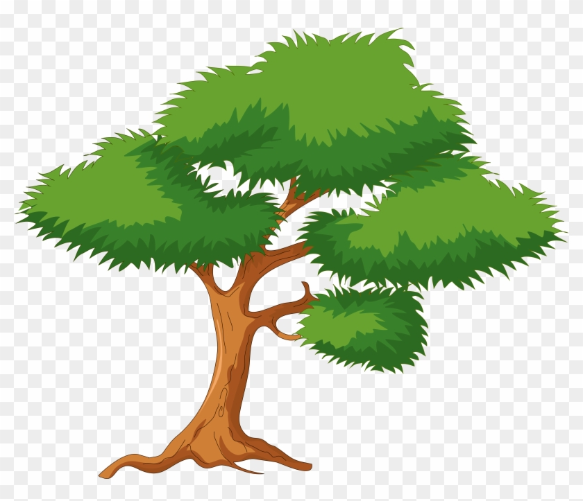 Green Cartoon Tree Png Clip Art - Cartoon Tree Png #5062