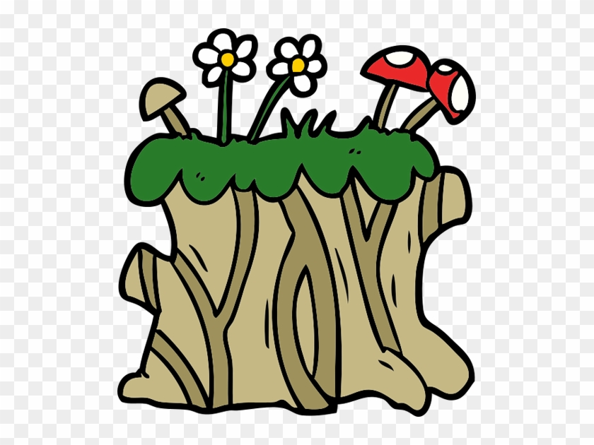 Cartoon Tree Stump Icon - Cartoon Tree Stump Icon #5084