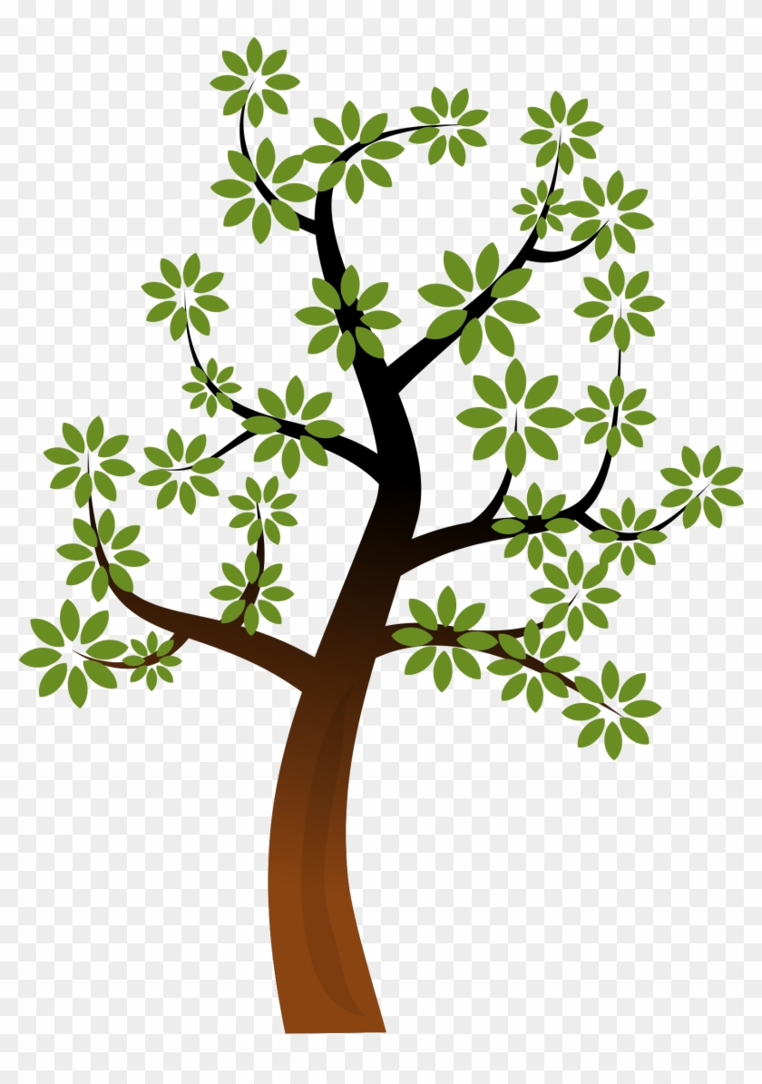 Nature Clipart Simple Tree - Public Domain Tree Clipart #5104