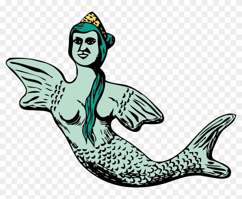 Free Vector Mermaid Clip Art - Vector Putri Duyung #5111
