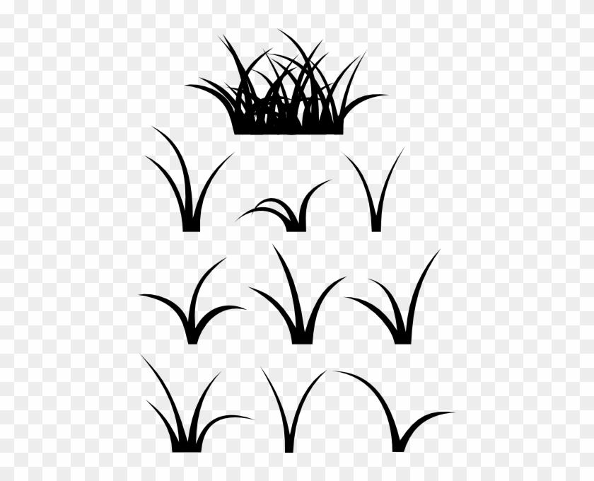 Grass Clip Art - Blades Of Grass Silhouette #5114