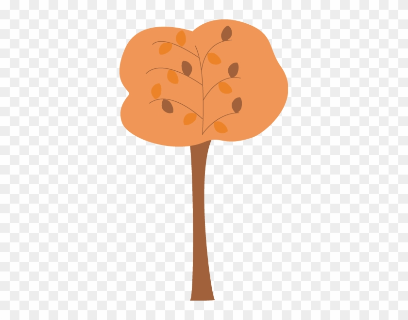 Orange Autumn Tree Clip Art - Tree #5167