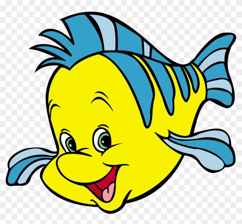 Flounder Clipart - Flounder From The Little Mermaid #5199