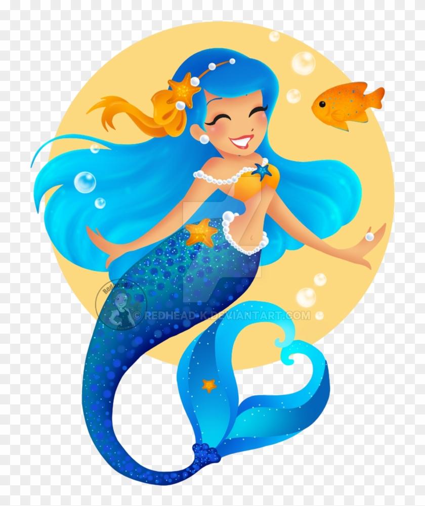 Blue Mermaid By Redhead-k - Blue Mermaid Transparent #5233