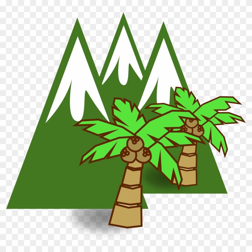 Big Image Gambar Animasi Logo Gunung