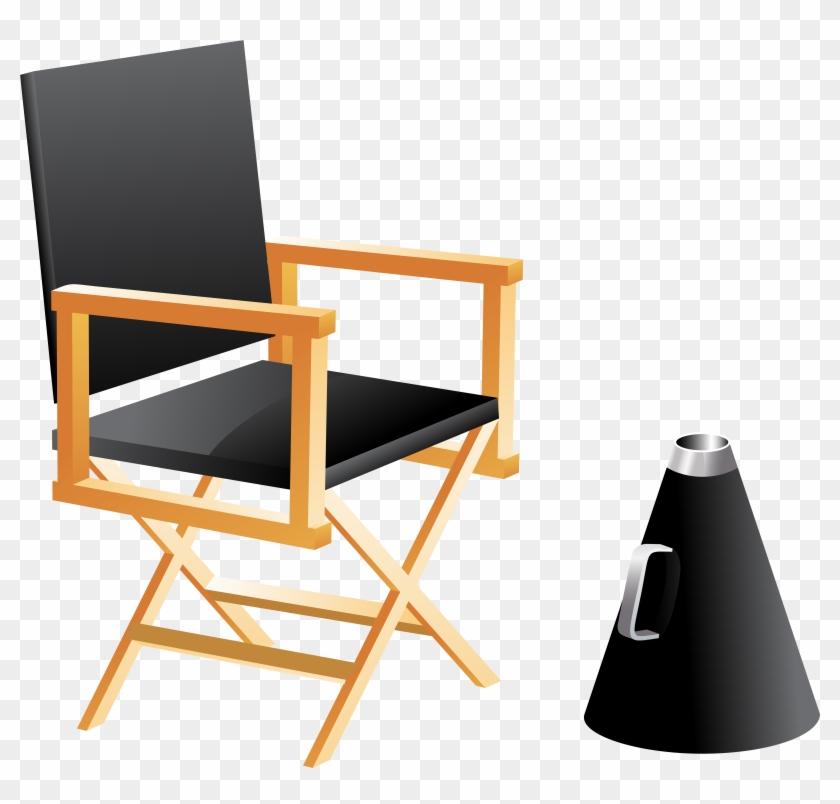 Directors Chair And Megaphone Png Clip Art - Directors Chair And Megaphone Png Clip Art #5314