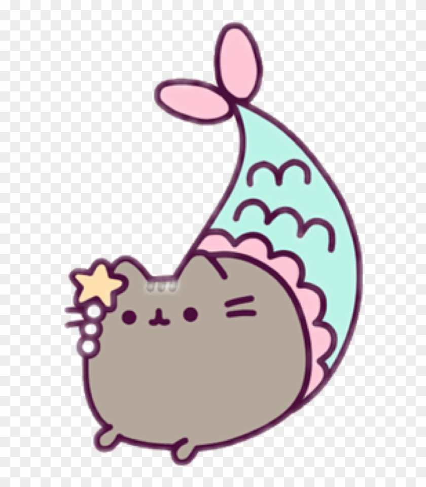 Report Abuse - Pusheen As A Mermaid #5342