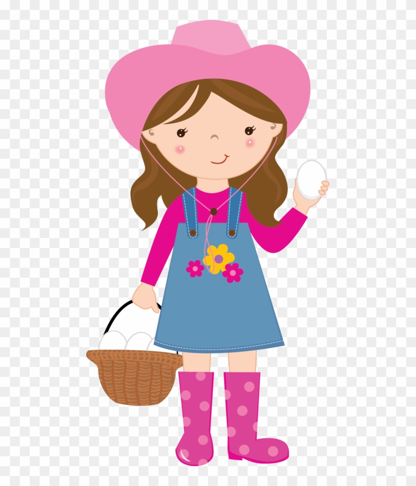 Cute Farm For Girls Clip Art - Farm Girl Clipart #5347