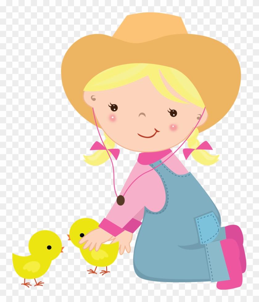 Cute Farm For Girls Clip Art - Granjeros Niños #5361
