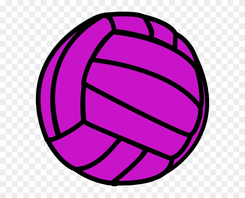 Clipart Info - Purple Volleyball #5364