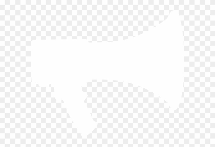 Megaphone - Clipart - Png - White Megaphone Png #5407
