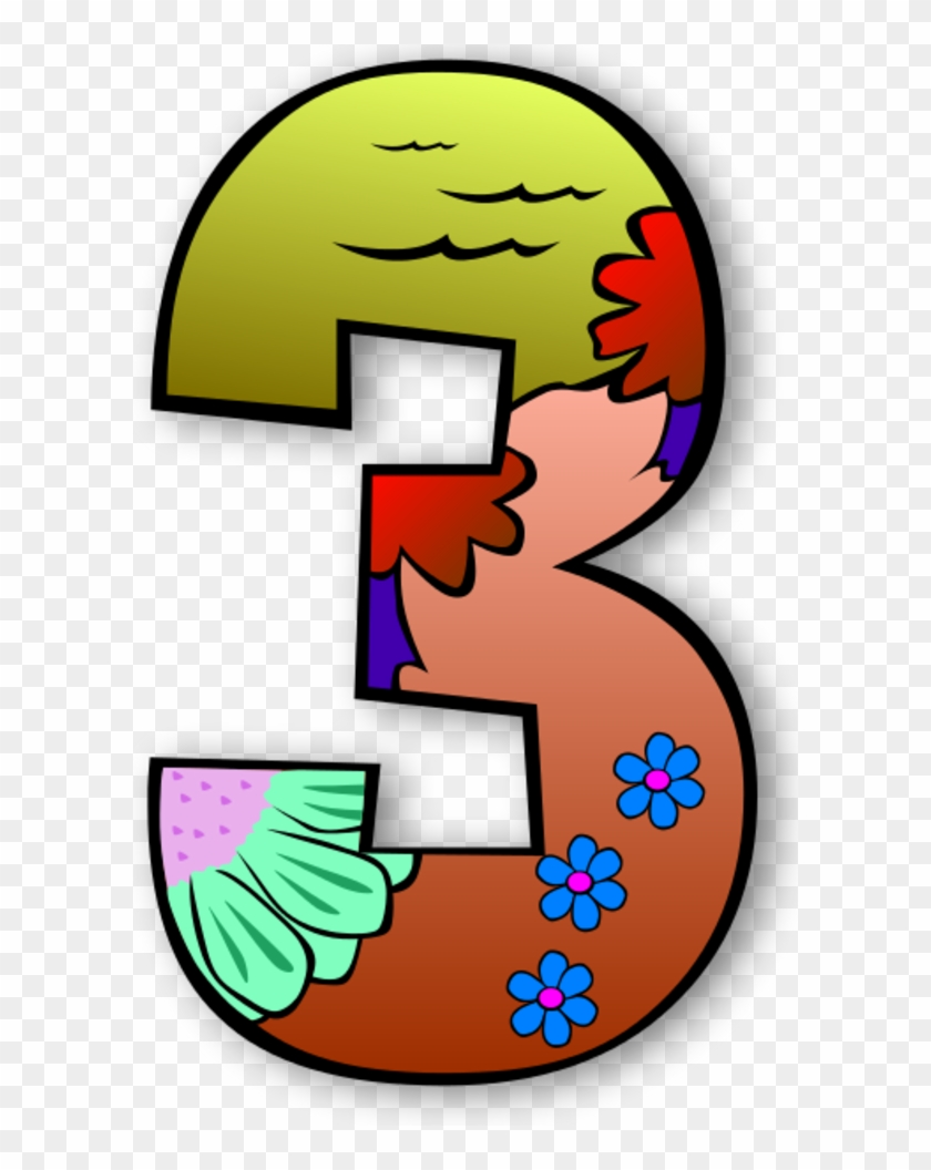 Creation Days Numbers - Numbers Clipart #5414