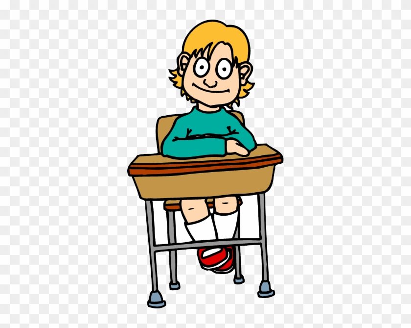 Desk Clip Art - Student In Desk Clipart #5435