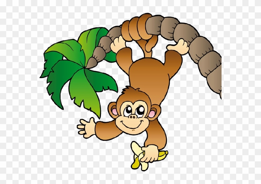 Zoo Clipart Jungle Monkey - Monkey Hanging From A Tree #5447