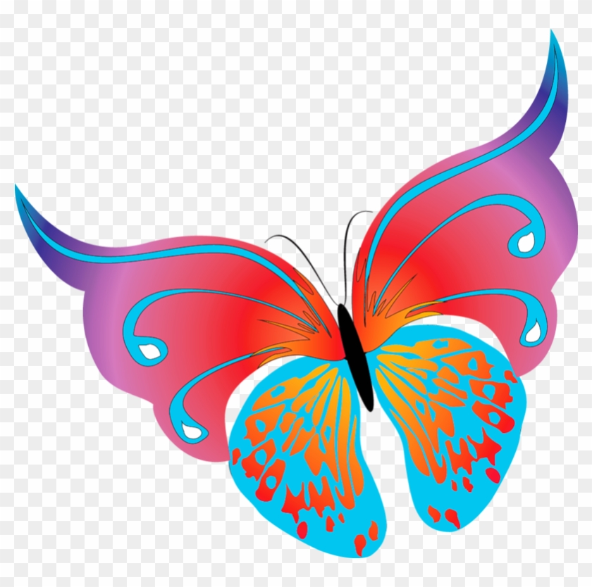 Painted Transparent Butterfly Png Clipart - Butterfly Images Png Clipart #5483