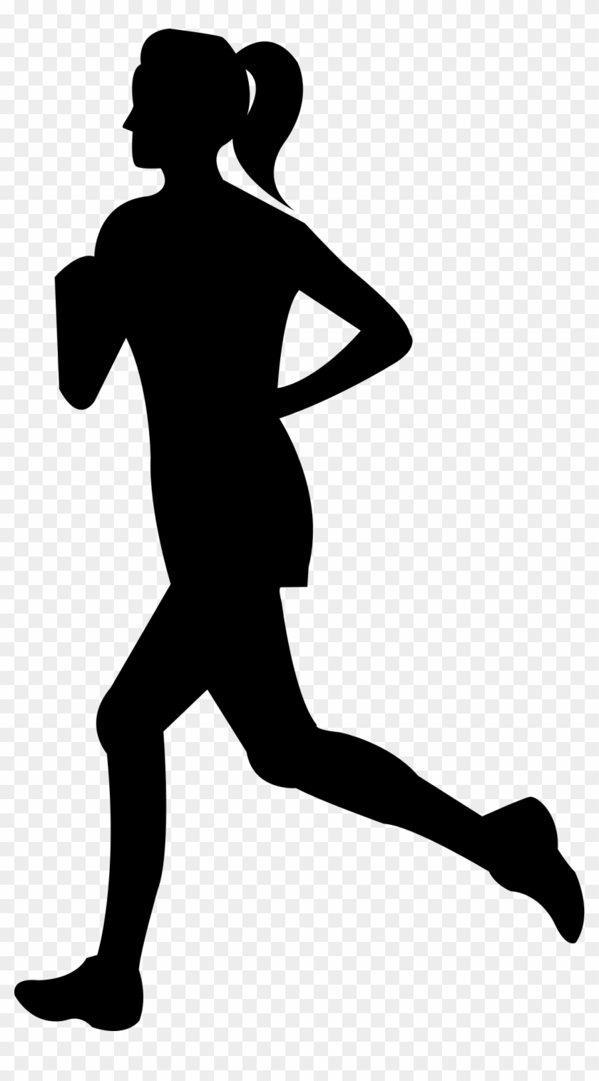 Free Clip Art Of Person Running Clipart Silhouette - Woman Running Silhouette Png #5505
