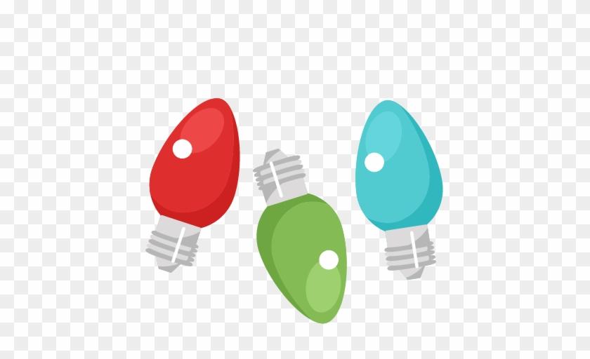 Light Bulb Clip Art For Christmas - Christmas Light Clip Art #5515