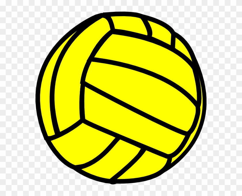 Volleyball Clip Art - Volleyball Black And Yellow #5537