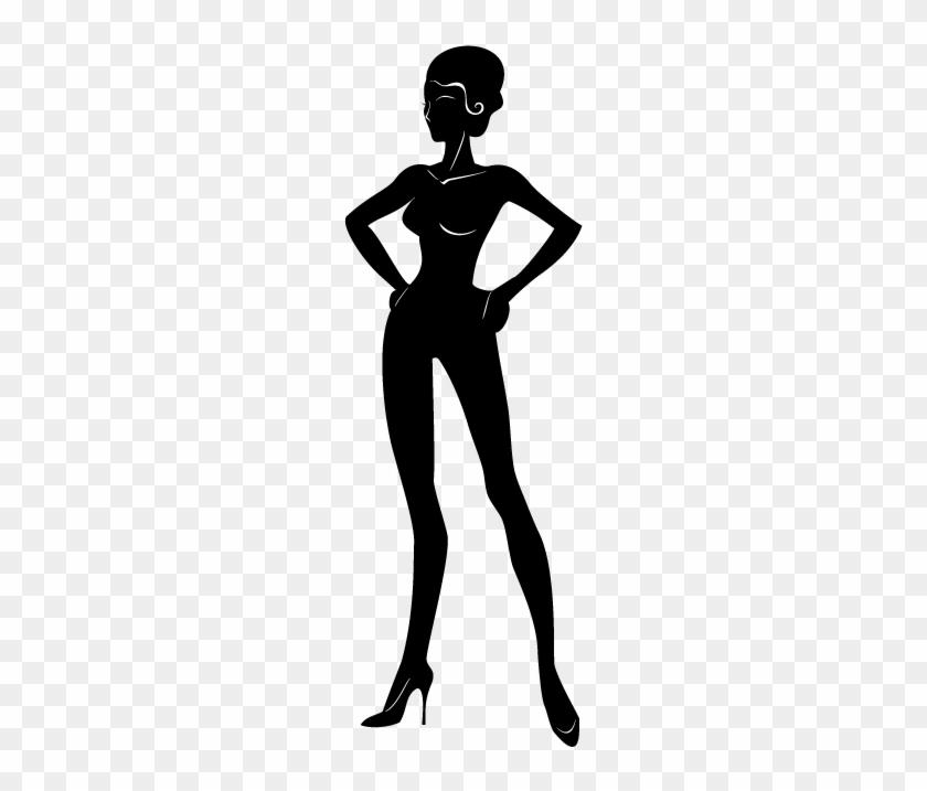 Sexy Woman Clip Art - Female Silhouette Clip Art #5539