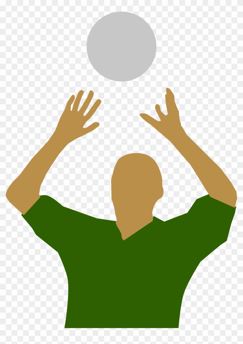 Volley Ball Clipart Wallpaper Images - Catching The Ball In Handball #5543