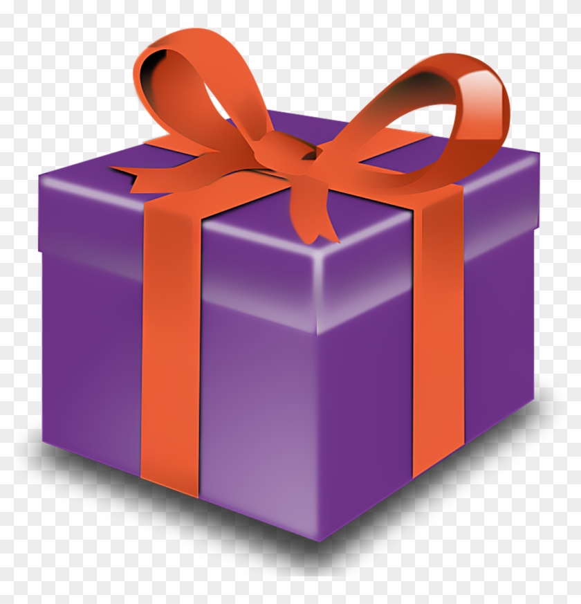 Christmas Presents Clip Art With Transparent - Purple Present #5548