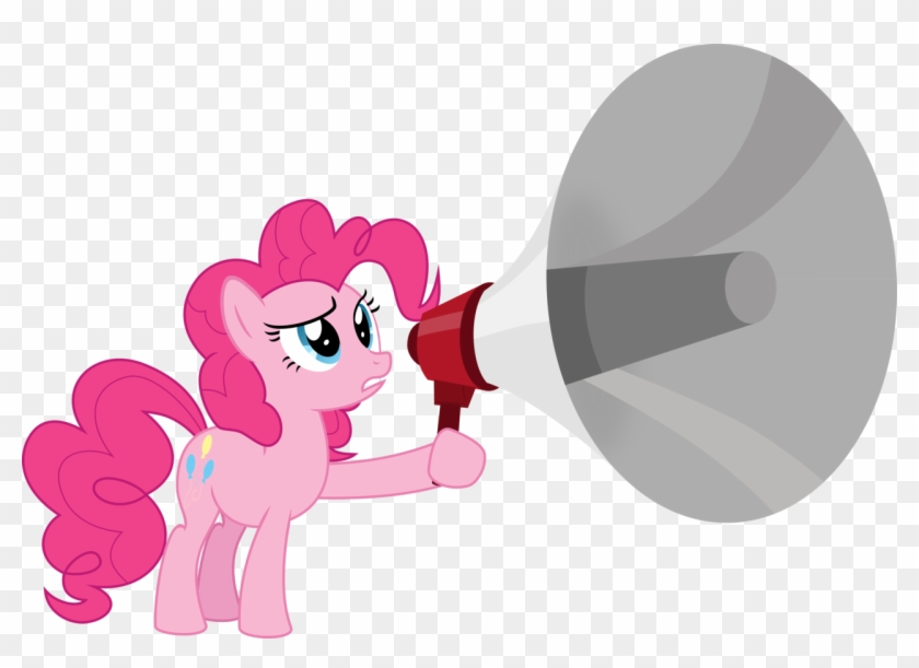 Emedina13, Megaphone, Pinkie Pie, Safe, Simple Background, - My Little Pony: Friendship Is Magic #5545