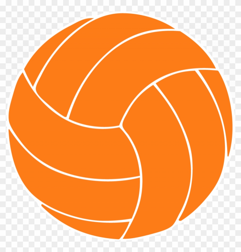 Orange Volleyball Clipart - Clipart Volleyball #5565