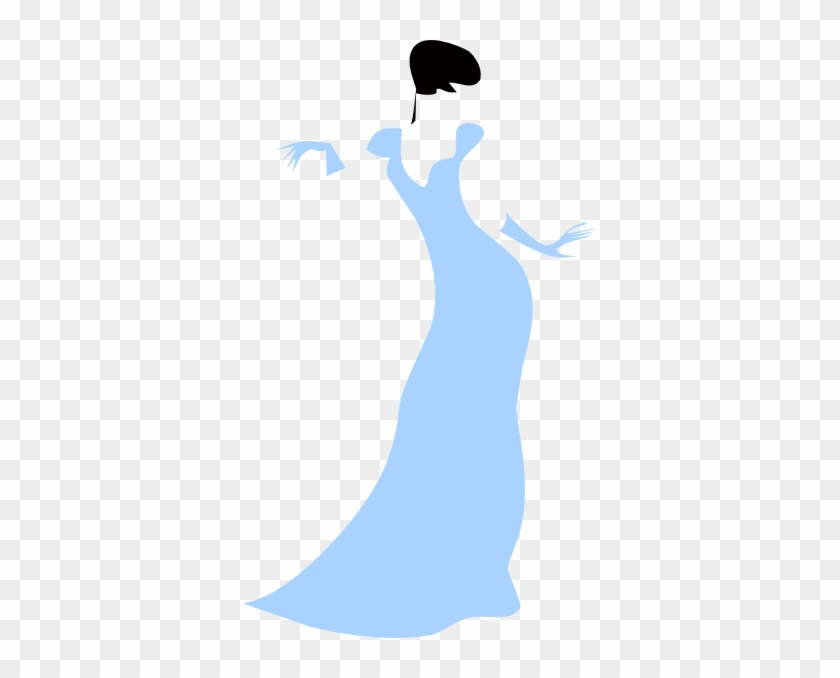 Lovely Woman In A Blue Dress Clip Art At Clker - Lady Clip Art #5571