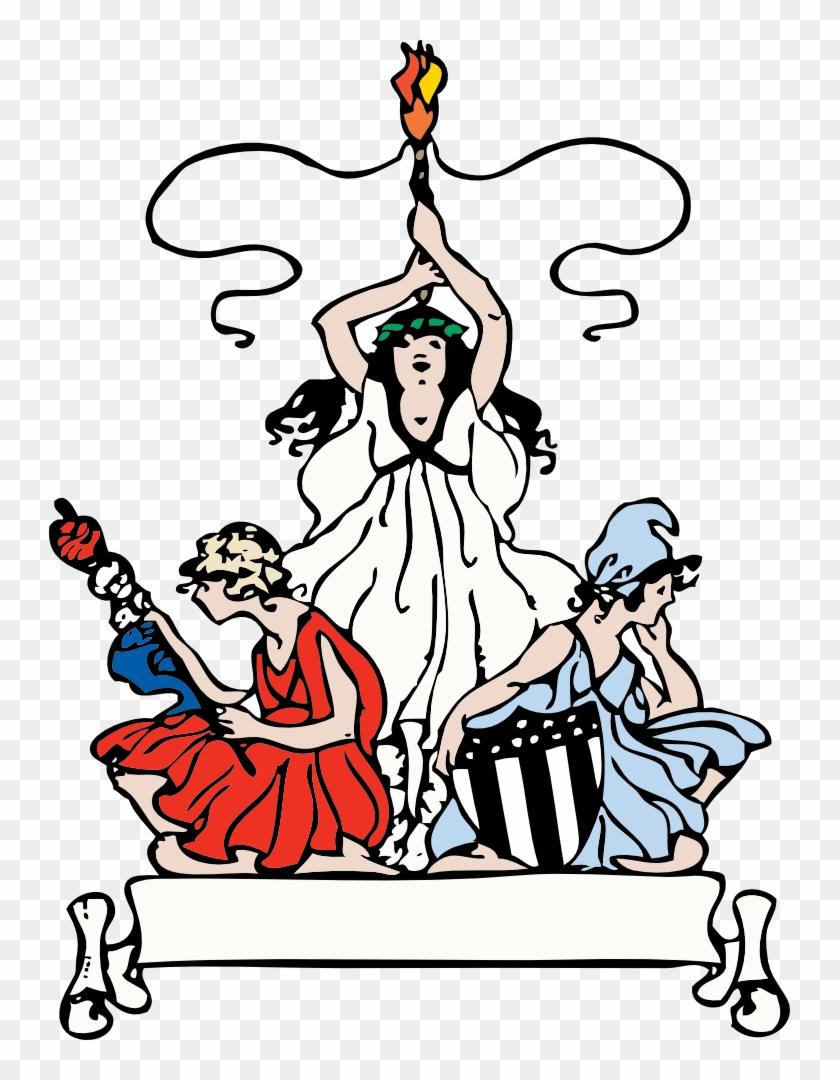 Free Patriotic Women - Clip Art #5580