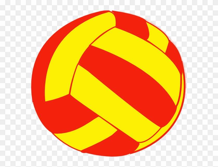 Red And Yellow Volleyball Clip Art At Clker - Ball #5585