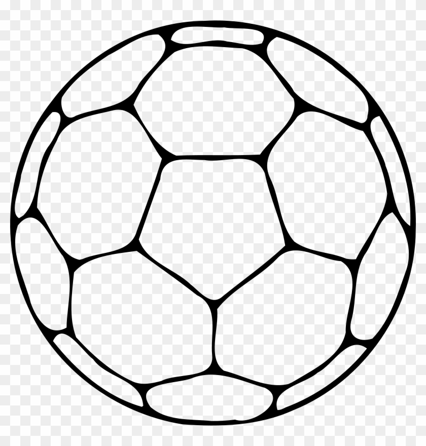 Volleyball Outline Clip Art - Ball Clipart Black And White #5598