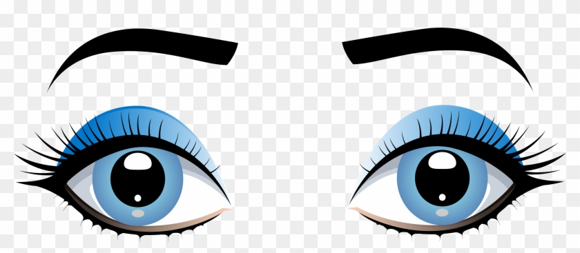 Clipart Homey Design Clipart Of Eyes Blue Female With - Female Brown Eyes Png #5627