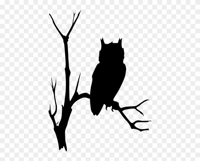 Owl In Tree Silhouette Clip Art - Owl In Tree Silhouette Clip Art #555