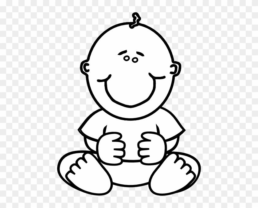 Baby Clipart Black And White Ba Boy Clip Art At Clker - Baby Boy Coloring Pages #5634