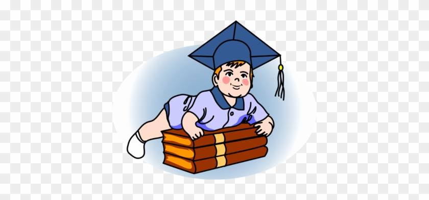 Graduate Baby - Baby Clip Art With A Graduation Cap #5652