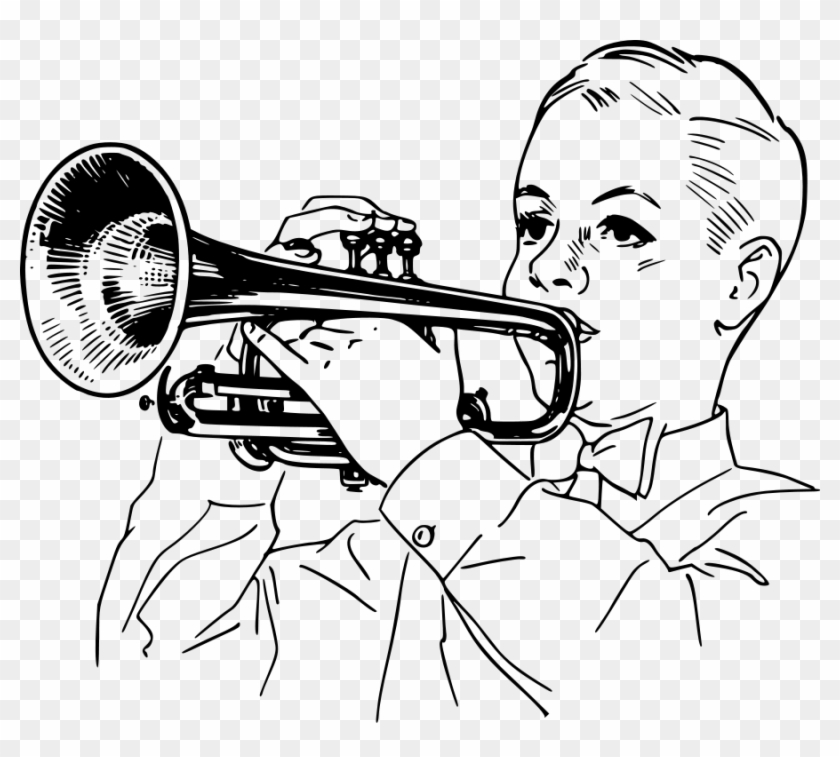 Playing Cornet - Play The Trumpet Clipart #5654