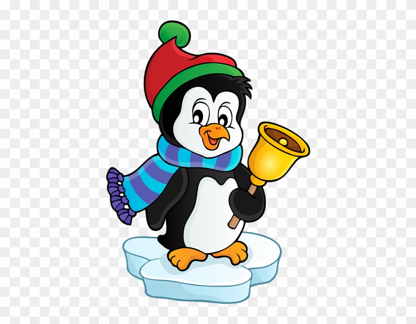 Penguin With Bell Transparent Png Clip Art Image - Christmas Penguin Transparent #5670