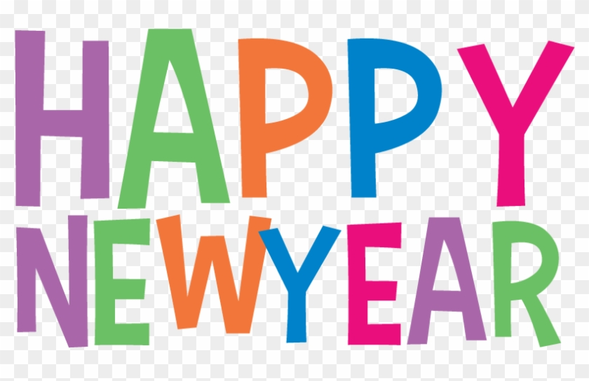 Happy New Year Clip Art - Happy New Year Transparent Text #5674