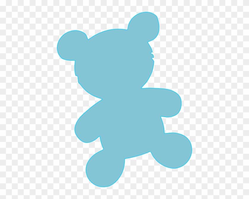 Baby Blue Teddy Clip Art At Clker - Blue Teddy Bear Clip Art #5689